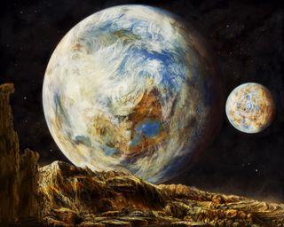 Обои на телефон планеты, космос, картина, галактика, galaxy