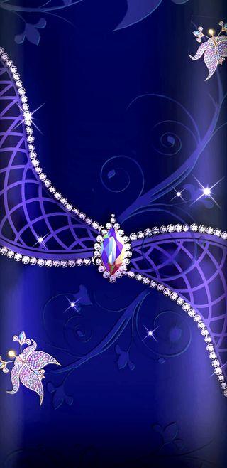 Обои на телефон цветы, синие, сверкающие, радуга, прекрасные, драгоценность, бриллианты, блестящие, royal, rainbowjewel