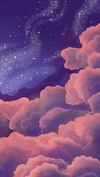 Обои на телефон розовые, милые, закат, whatsapp, nube, hd, fondo, estrella, cielo rosa