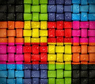 Обои на телефон капли, цветные, твист, радуга