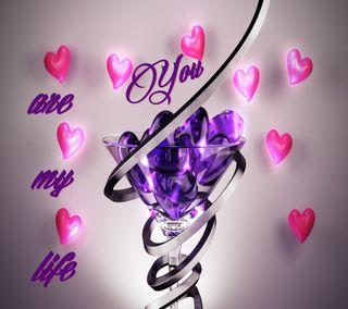 Обои на телефон специальные, чувства, слышать, синие, сердце, розовые, мой, любовь, жизнь, someone, mylove