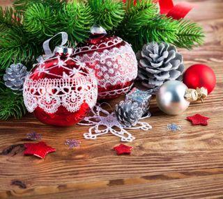 Обои на телефон снежинки, рождество, безделушки, cone