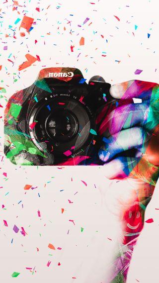 Обои на телефон фотография, цветные, счастливые, смайлики, радуга, любовь, камера, love, happy