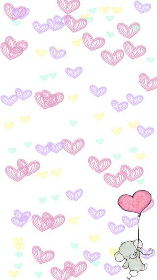 Обои на телефон слон, сердце, милые, любовь, love