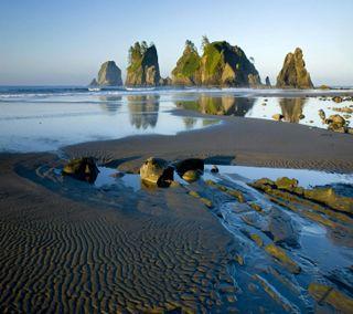 Обои на телефон сумерки, прекрасные, пляж, пейзаж, океан, красочные, закат, вид, вечер, ocean dusk hd, hd, 2013