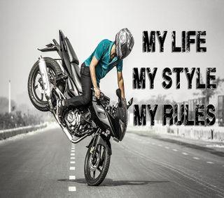 Обои на телефон стиль, синие, правила, мой, знаки, жизнь, высказывания, байк, stunt