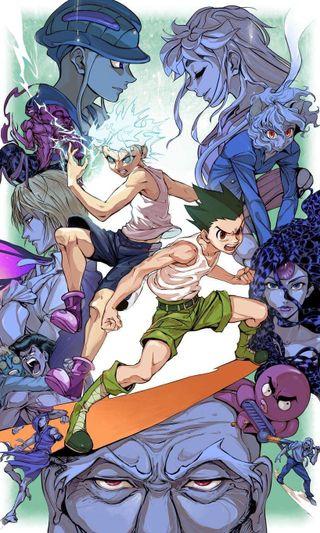 Обои на телефон охотник, удивительные, мультфильмы, манга, любовь, аниме, shonen, love, hunter hunter