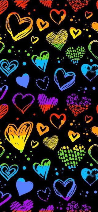 Обои на телефон прайд, цветные, сердце, радуга, любовь, красочные, love