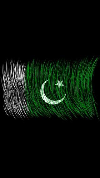 Обои на телефон амолед, черные, флаг, пакистан, независимость, август, brush, amoled, 14 august