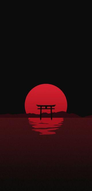 Обои на телефон hd, japonia, negru, rosu, черные, красые, японские
