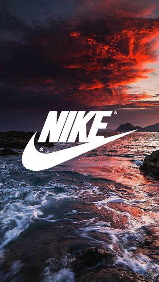 Обои на телефон волна, цветные, серфить, найк, логотипы, закат, волны, nike sunset, carrier, air