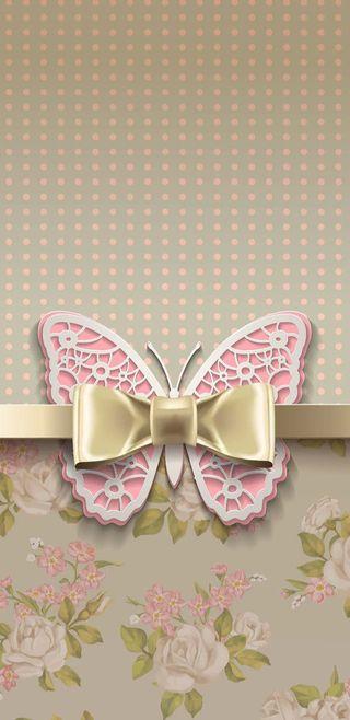 Обои на телефон лук, цветы, цветочные, симпатичные, розовые, коричневые, золотые, девчачие, бабочки