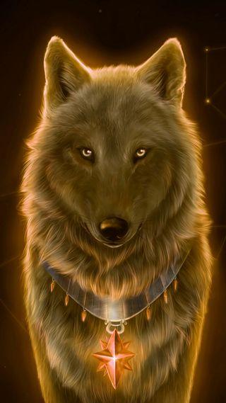 Обои на телефон дикие, фантазия, приятные, звезда, животные, желтые, волк, nice wolf