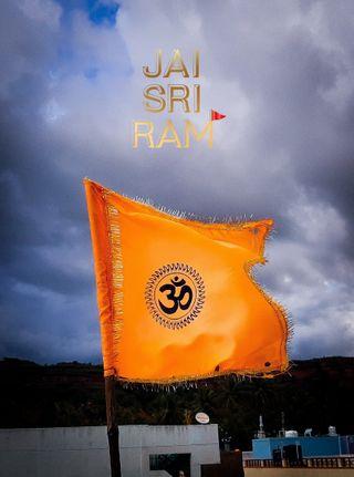 Обои на телефон шри, индия, флаг, рам, оранжевые, ом, индийские, kesari, jai, hindu flag