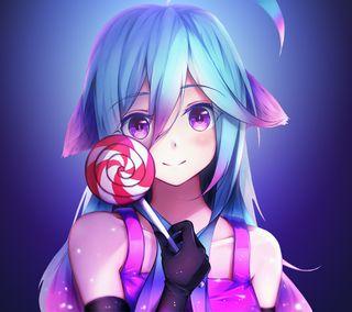 Обои на телефон каваи, девушки, аниме, lollipop, girl with lollipop