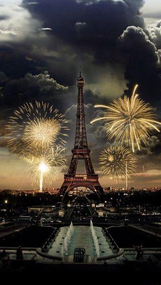 Обои на телефон фейерверк, париж, in paris, fireworks in paris