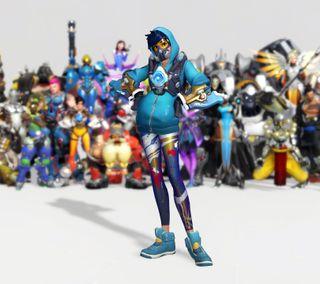 Обои на телефон игра, герои, tracer, overwatch