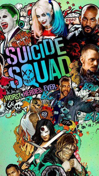 Обои на телефон постер, фильмы, самоубийца, отряд, suicide squad 2016, 2016