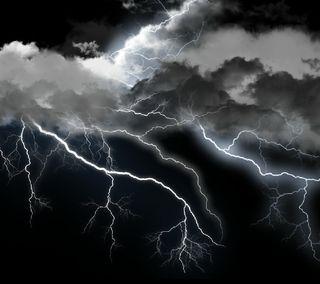 Обои на телефон молния, природа, гром