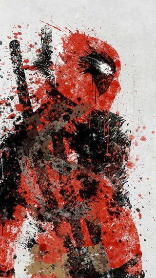 Обои на телефон pool, wade, wilson, абстрактные, черные, крутые, красые, герой, дэдпул, мертвый, кровь, чернила