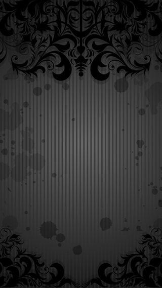 Обои на телефон цветочные, шаблон, черные, цветы, фон, абстрактные
