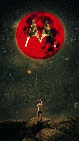 Обои на телефон небеса, моторола, луна, noite, motorola, lua