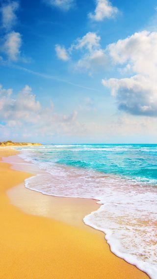 Обои на телефон тропические, синие, природа, пляж, небо, вода