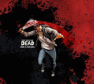 Обои на телефон ходячие, зомби, мертвый, walkingdead, walking dead slice, scopely, machete