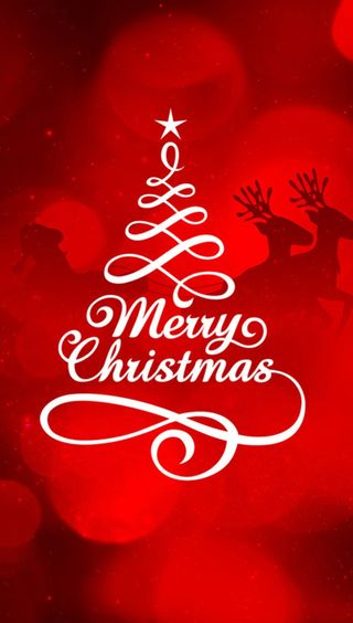 Обои на телефон счастливое, санта, рождество, красые, дерево