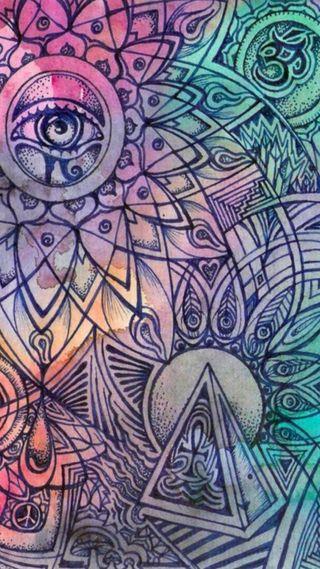 Обои на телефон дзен, солнце, символы, ом, мир, духовные, глаза, абстрактные, zen symbols, reiki