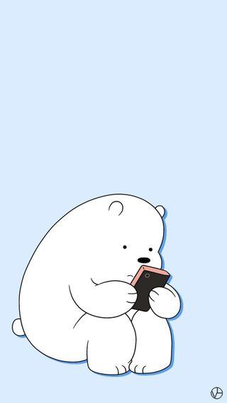 Обои на телефон медведь, медведи, лед, icebear, ice bear