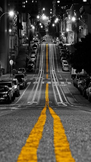Обои на телефон улица, ночь, vcx, street night