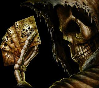 Обои на телефон карты, череп, смерть, мрачные, игра, жнец, готические