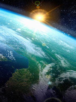Обои на телефон солнечный свет, природа, земля, over