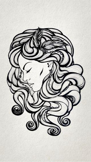 Обои на телефон панк, чернила, хипстер, татуировки, тату, крутые, дизайн, девушки, арт, girl design tattoo, art