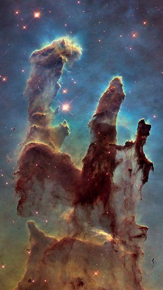 Обои на телефон туманность, космос, звезда