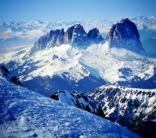 Обои на телефон небеса, снег, прекрасные, облака, небо, зима, горы, nexus, n5 winter mountain, hd