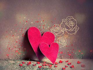 Обои на телефон лепестки, сердце, любовь, красые, love