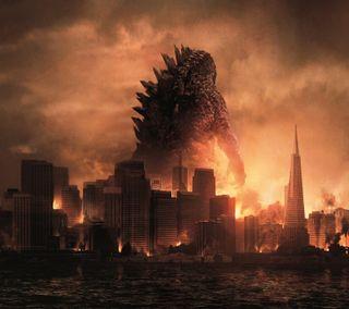 Обои на телефон годзилла, monster, giant, destroyer, big