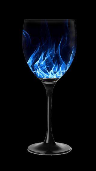 Обои на телефон стекло, синие, огонь, вино, wine glass, blue fire in a glass, blue fire in a glas, blue fire