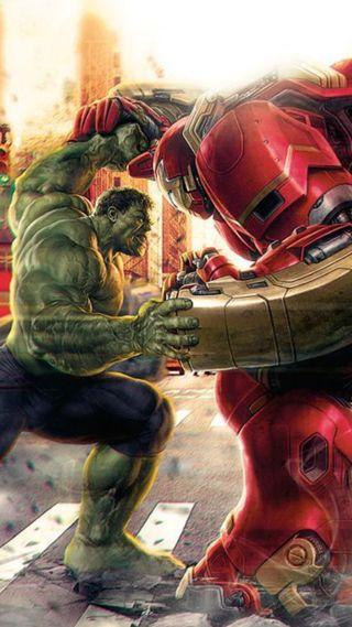 Обои на телефон эпоха, халк, ультрон, против, мстители, железный, man, hulk vs iron man, buster