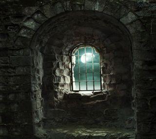 Обои на телефон окно, стена, камни