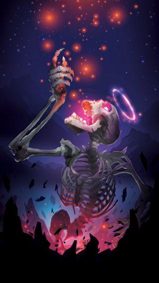 Обои на телефон свеча, ужасы, супер, скелет, призрак, оранжевые, лимит, красые, красочные, ghost, feeding