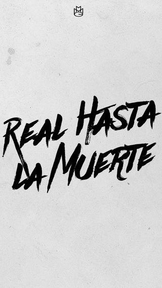 Обои на телефон фразы, реал, цитата, real hasta la muerte