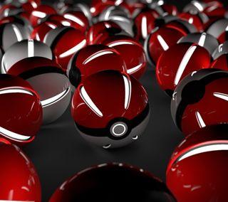 Обои на телефон мальчик, покемоны, покебол, нинтендо, игра, pokeballs, nintendo, 3д, 3d pokeball