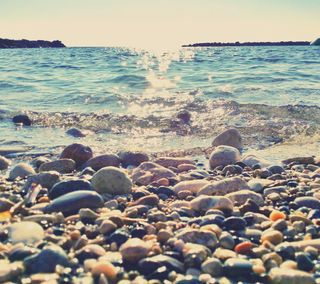 Обои на телефон солнце, море, прекрасные, красочные, красота, камни, paphos, cyprus beauty, cyprus, cy