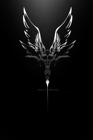 Обои на телефон сверхъестественное, тьма, свет, крылья, ангел, arch angel