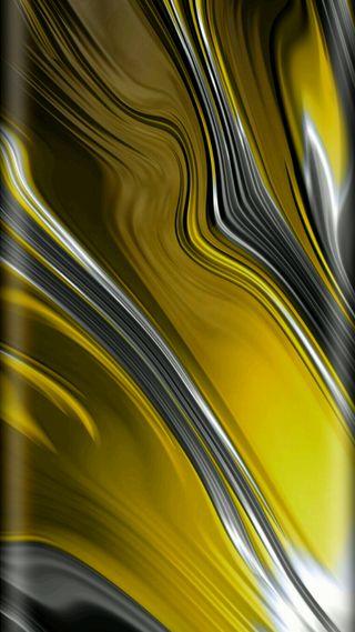 Обои на телефон грани, волна, линии, желтые, дизайн, абстрактные