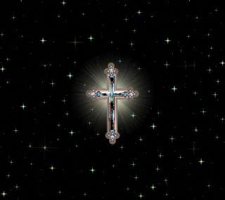 Обои на телефон крест, ночь, звезда, дизайн, star night 4