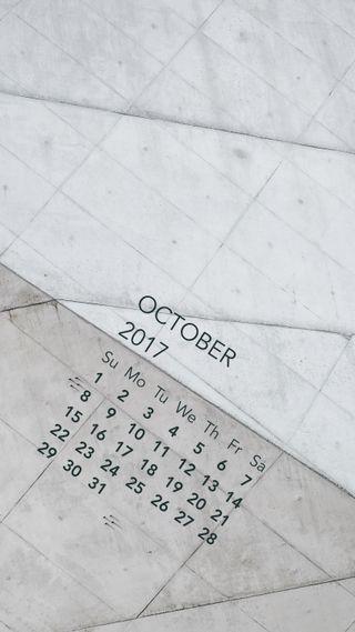 Обои на телефон продуктивность, октябрь, календарь, october arcitecture, oct